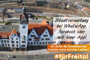 Freitals Stadtverwaltung im Internet